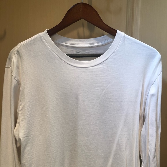 GAP White Long Sleeve Shirt, 100% Cotton, Sz Large